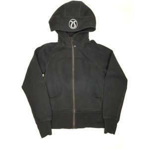 Lululemon black scuba hoodie full zip jacket sz 4